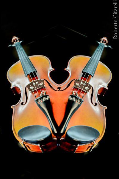 mostra corde - violino per ambodestro